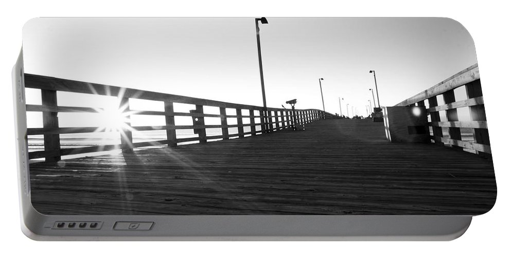Jolly Portable Battery Charger featuring the photograph Walking The Planks Sunrise by Betsy Knapp