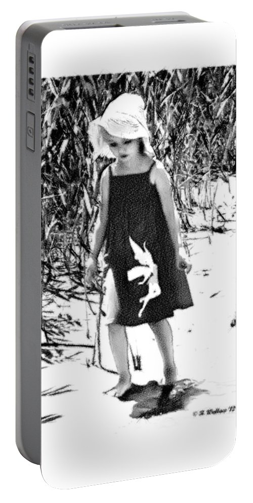2d Portable Battery Charger featuring the photograph Walking The Shoreline by Brian Wallace