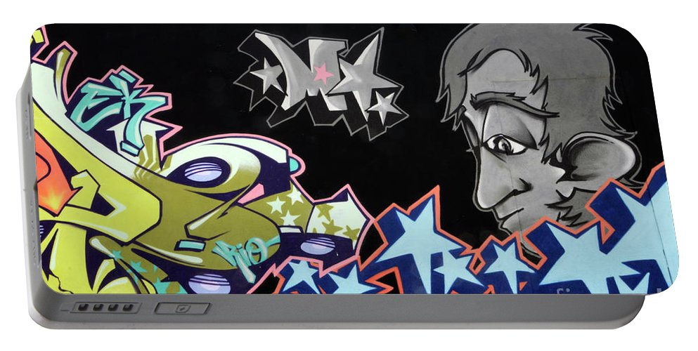 Graffiti Portable Battery Charger featuring the photograph Wall Art 1 by Bob Christopher