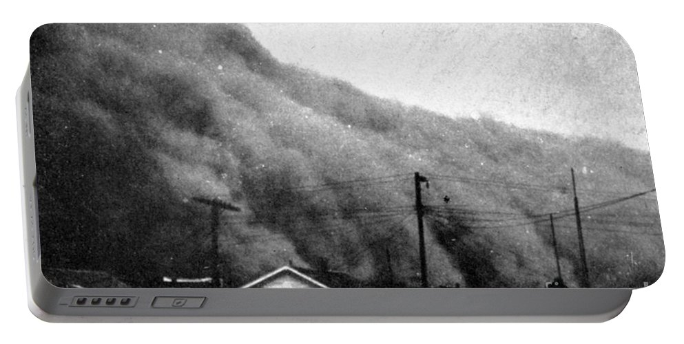 Science Portable Battery Charger featuring the photograph Wall Of Dust, Kansas, 1935 by Science Source