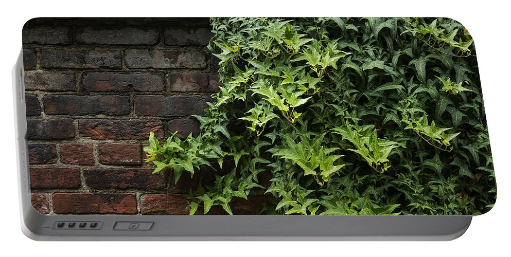 Antique Brick Portable Battery Charger featuring the photograph Walled Garden by John Greim