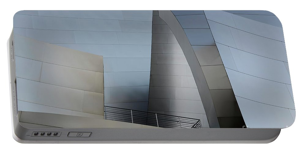 Disney Portable Battery Charger featuring the photograph Walt Disney Concert Hall 2 by Bob Christopher