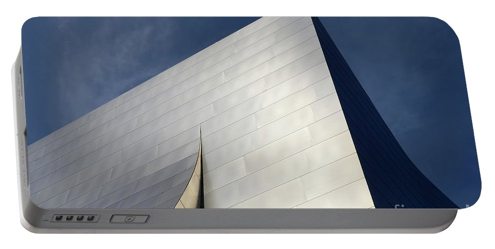 Disney Portable Battery Charger featuring the photograph Walt Disney Concert Hall 5 by Bob Christopher