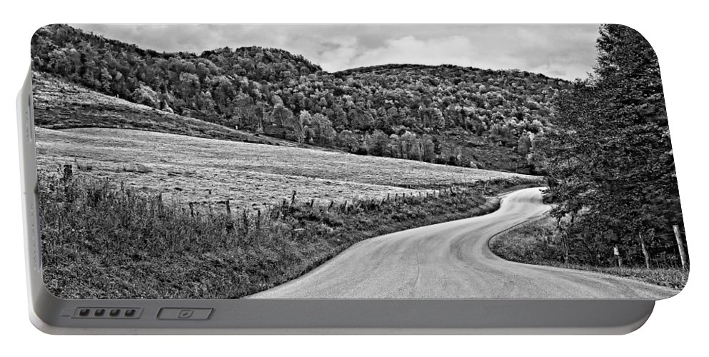 West Virginia Portable Battery Charger featuring the photograph Wandering In West Virginia Monochrome by Steve Harrington