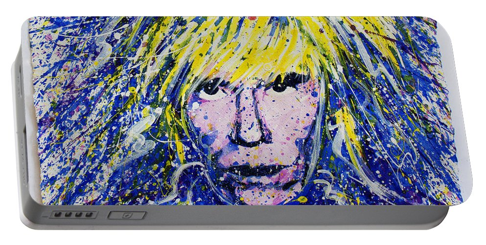 Andy Warhol Portable Battery Charger featuring the painting Warhol II by Chris Mackie