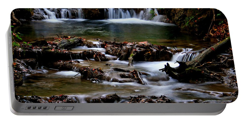 Water Portable Battery Charger featuring the photograph Warm Springs by Karen Harrison
