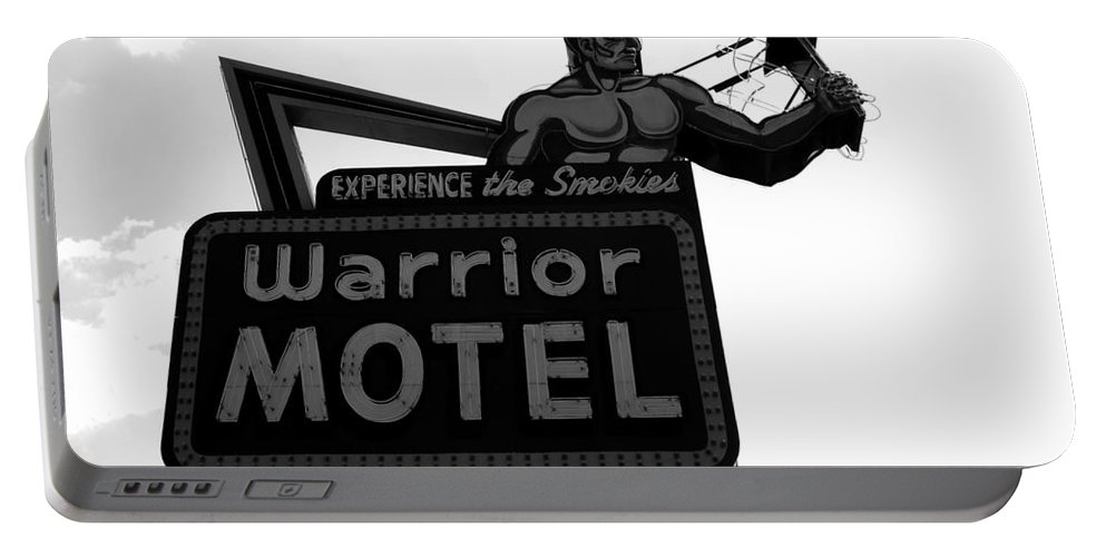 Warrior Motel Portable Battery Charger featuring the photograph Warrior Motel by David Lee Thompson