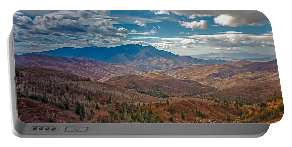 Mount Nebo Portable Battery Charger featuring the photograph Wasatch Range by Robert Bales
