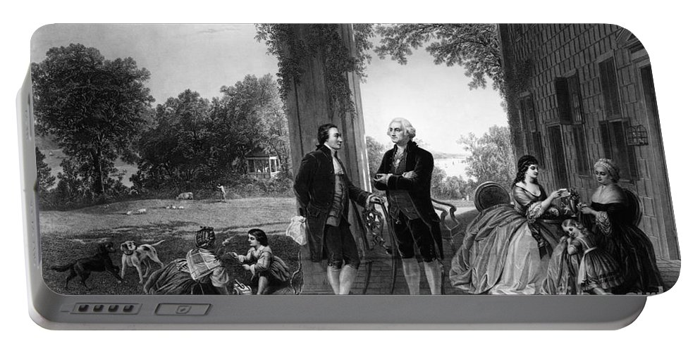 History Portable Battery Charger featuring the photograph Washington And Lafayette, Mount Vernon by Library of Congress
