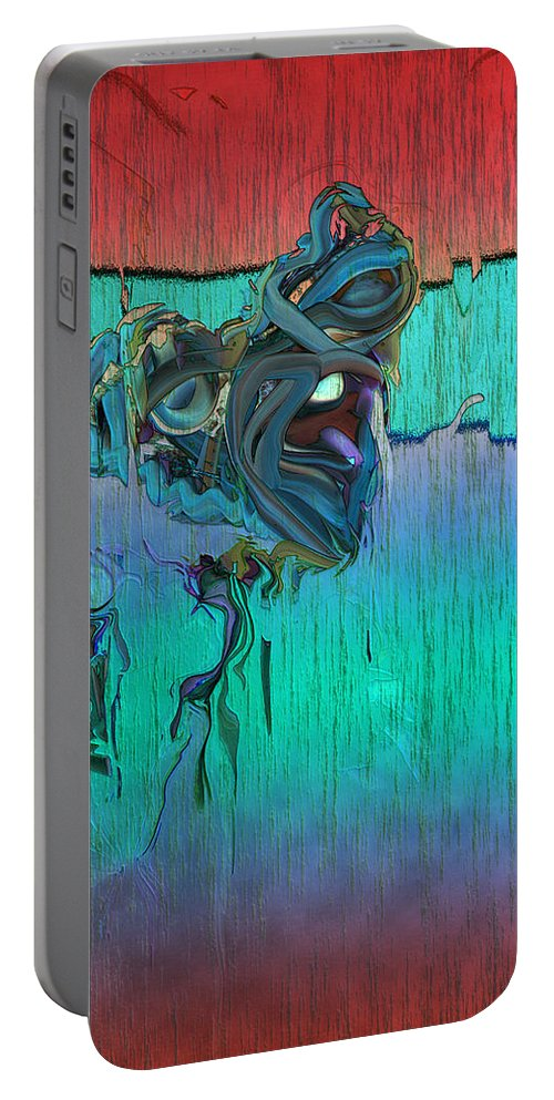 Wasted Portable Battery Charger featuring the digital art Wasted by Linda Sannuti