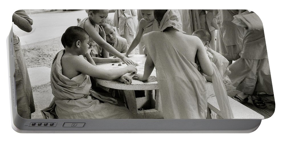 Wat Portable Battery Charger featuring the photograph Wat Suan Dok by Shaun Higson