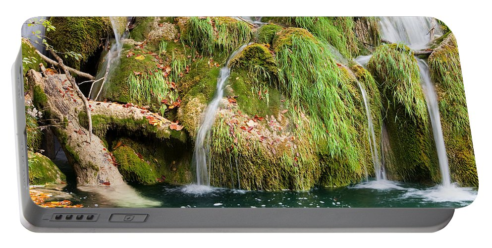 Waterfall Portable Battery Charger featuring the photograph Water Cascade by Artur Bogacki