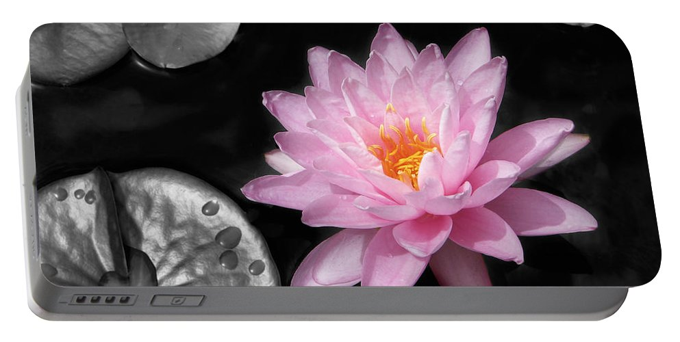 Dreaming Portable Battery Charger featuring the photograph Water Lily by Rudy Umans