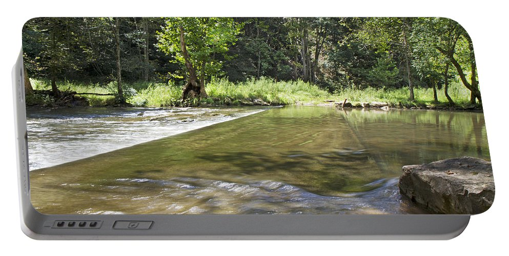 Water Portable Battery Charger featuring the photograph Water Over The Bridge by Betsy Knapp