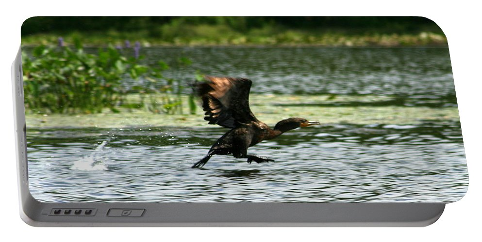 Duck Portable Battery Charger featuring the photograph Water Run by Neal Eslinger