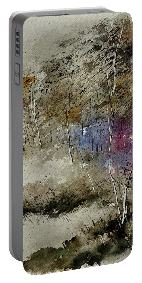 Landscape Portable Battery Charger featuring the painting Watercolor 110122 by Pol Ledent