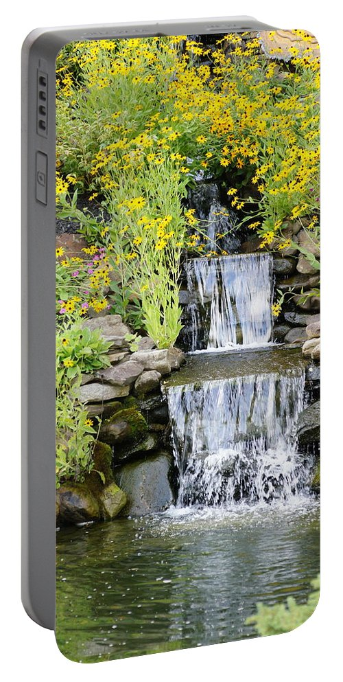 Waterfall Portable Battery Charger featuring the photograph Waterfall by Megan Cohen