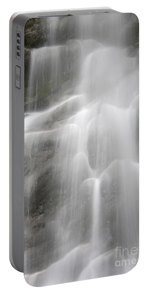 Waterfall Portable Battery Charger featuring the photograph Waterfall, Quebec by Ted Kinsman