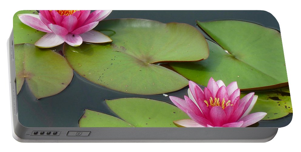 Water Portable Battery Charger featuring the photograph Waterlillies by Tim Nyberg