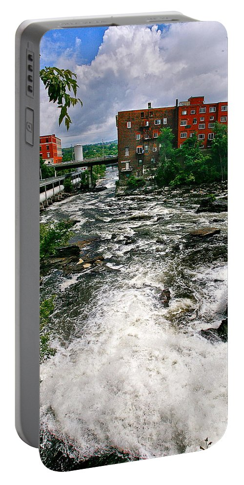 Rushing Water Portable Battery Charger featuring the photograph Waterpower by Burney Lieberman