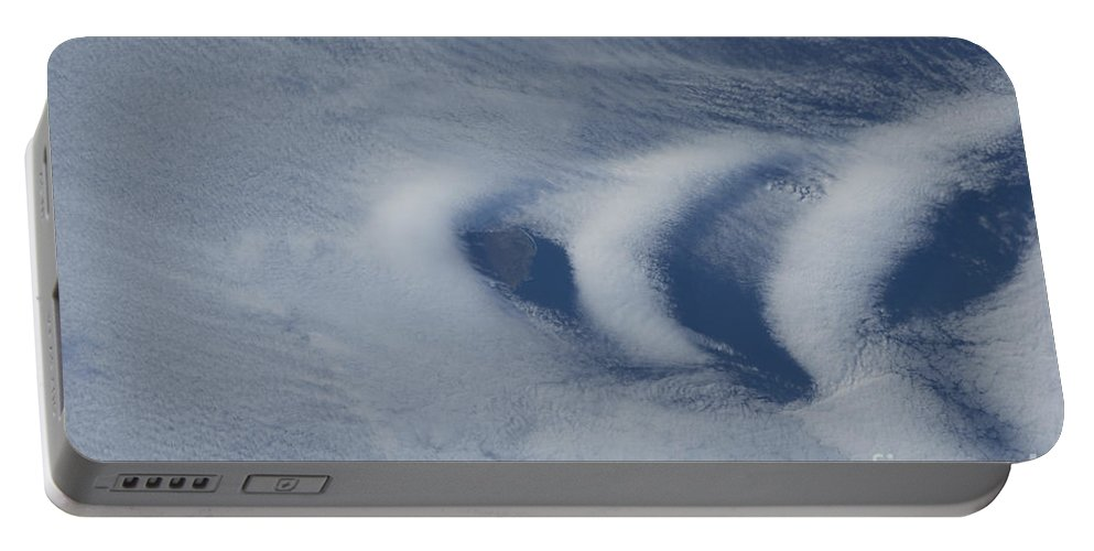 Color Image Portable Battery Charger featuring the photograph Wave Clouds Near Ile Aux Cochons by Stocktrek Images