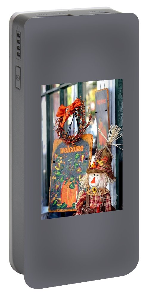 Welcome Portable Battery Charger featuring the photograph Welcome Fall by Living Color Photography Lorraine Lynch