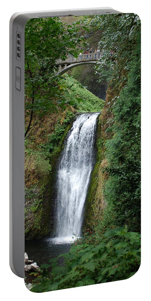 Waterfall Portable Battery Charger featuring the photograph Well Placed Waterfall by Eric Tressler