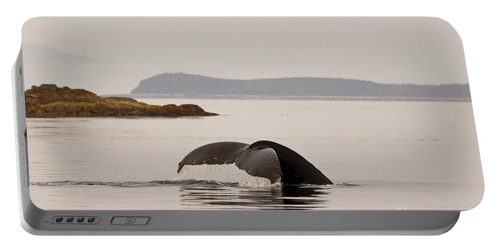 Alaska Portable Battery Charger featuring the photograph Whale Tail by Darcy Michaelchuk