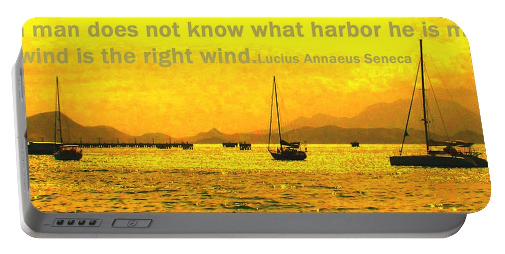 Harbor Portable Battery Charger featuring the photograph What Harbor by Ian MacDonald
