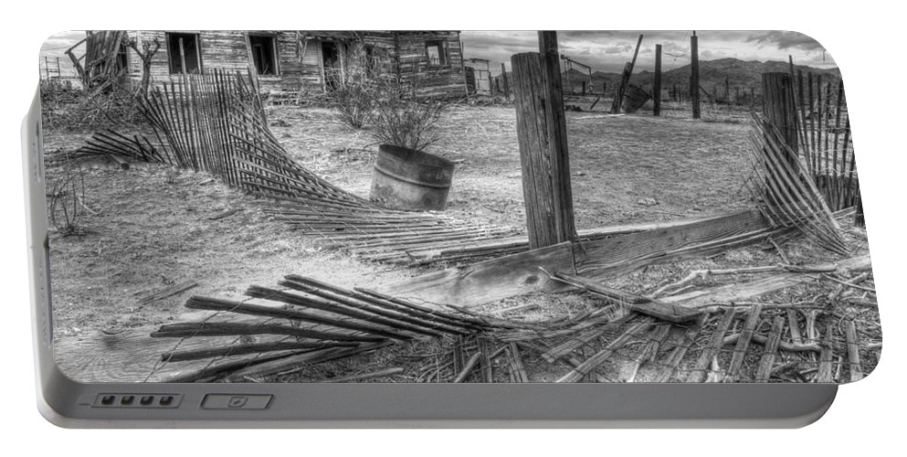 Dreams Portable Battery Charger featuring the photograph Where Does The Story End Monochrome by Bob Christopher