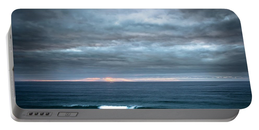 Sunset Portable Battery Charger featuring the photograph White Track by Edgar Laureano
