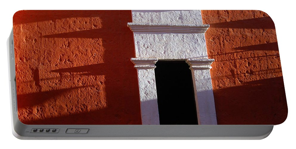 Monastery Portable Battery Charger featuring the photograph White Window by RicardMN Photography