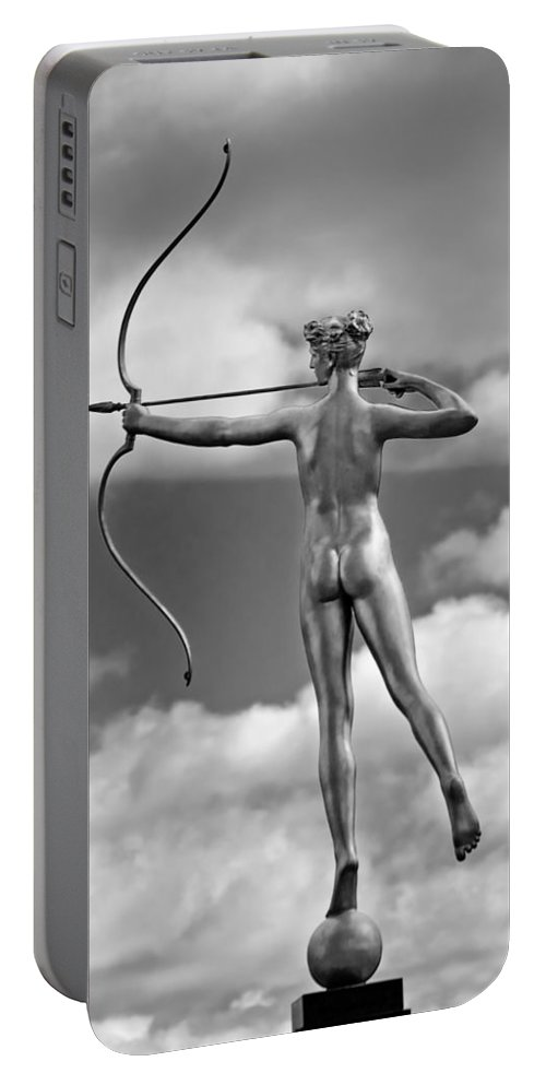 New Orleans Portable Battery Charger featuring the photograph Who Needs Cupid 2 Monochrome by Steve Harrington