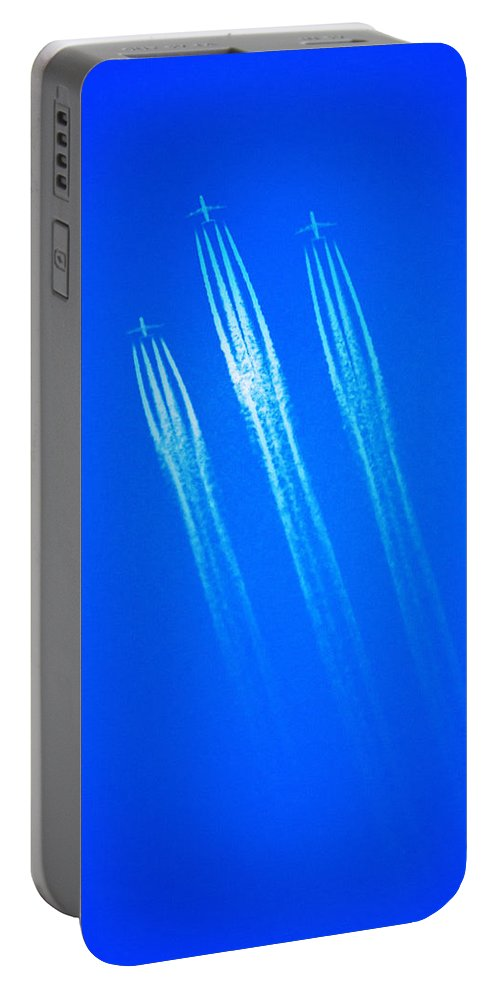 Wild Blue Yonder Portable Battery Charger featuring the photograph Wild Blue Yonder by Bill Cannon