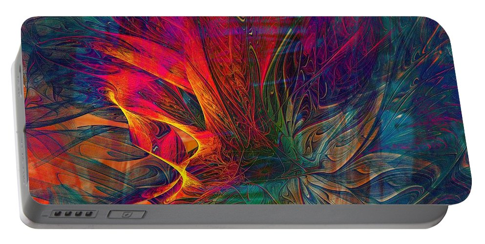 Digital Art Portable Battery Charger featuring the digital art Wildfire by Amanda Moore