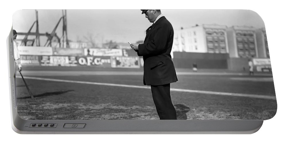 William Henry Dinneen American Man Male Major League Baseball Pitcher Portable Battery Charger featuring the photograph William Dinneen 1910 by Steve K