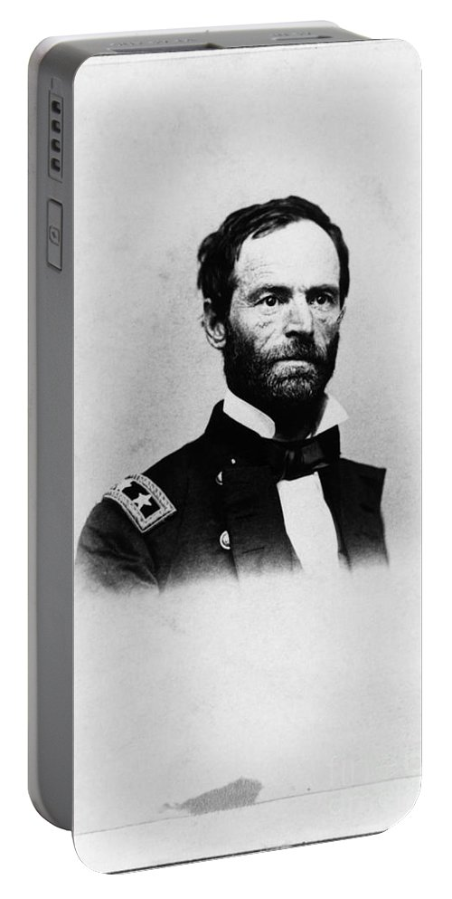History Portable Battery Charger featuring the photograph William Tecumseh Sherman, Union General by LOC/Photo Researchers
