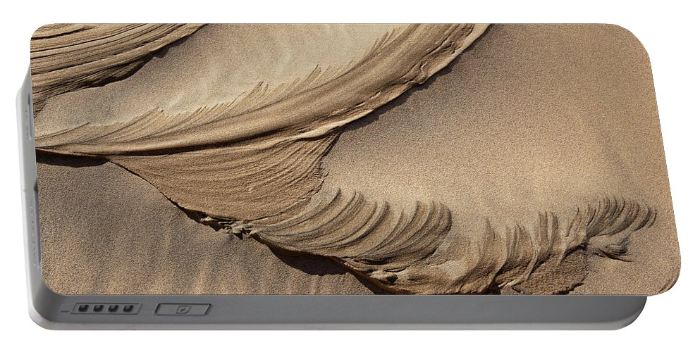 Sand Portable Battery Charger featuring the photograph Wind Creation by Kelley King