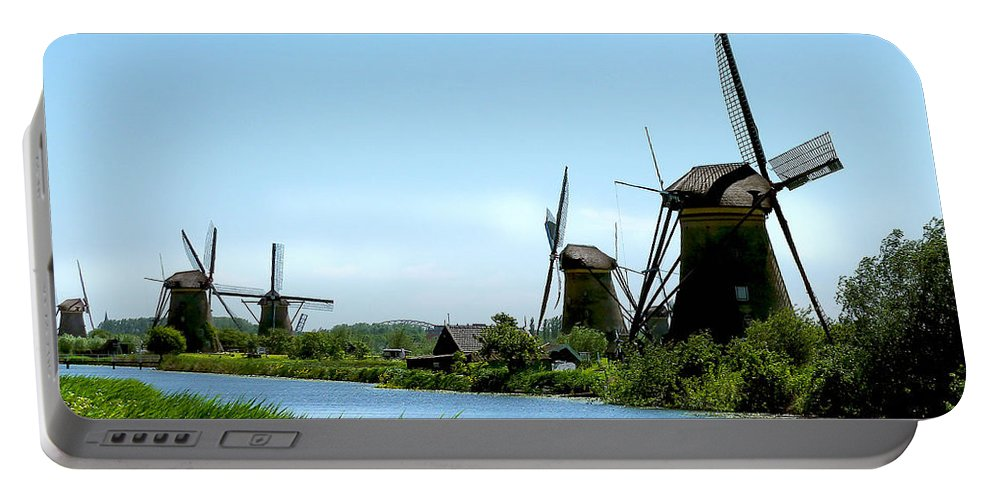 Windmills Portable Battery Charger featuring the photograph Windmills by Diana Haronis