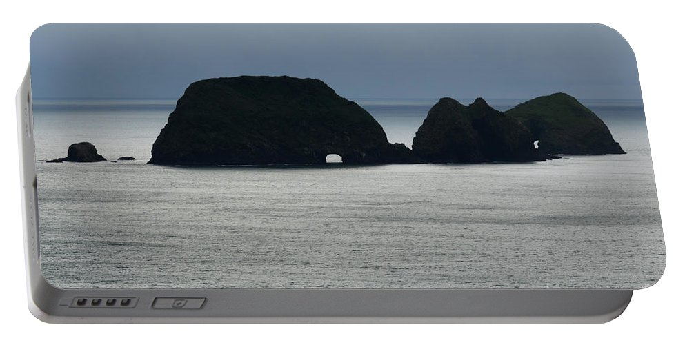 Window Rocks Portable Battery Charger featuring the photograph Window Rocks by Bob Christopher