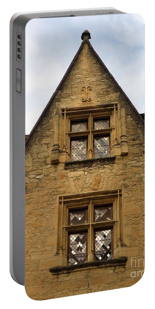 Windows Portable Battery Charger featuring the photograph Windows Of Sarlat by Lainie Wrightson