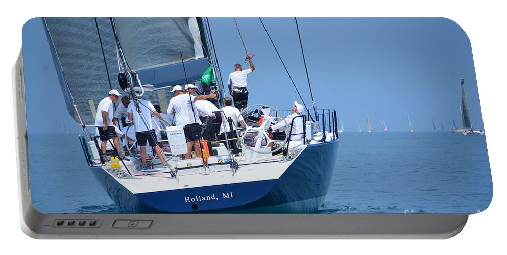 Sail Portable Battery Charger featuring the photograph Windquest  Intesity by Randy J Heath
