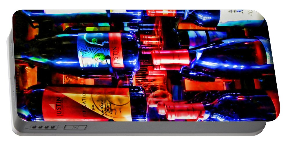 Wine Portable Battery Charger featuring the photograph Wine Bottles by Joan Minchak