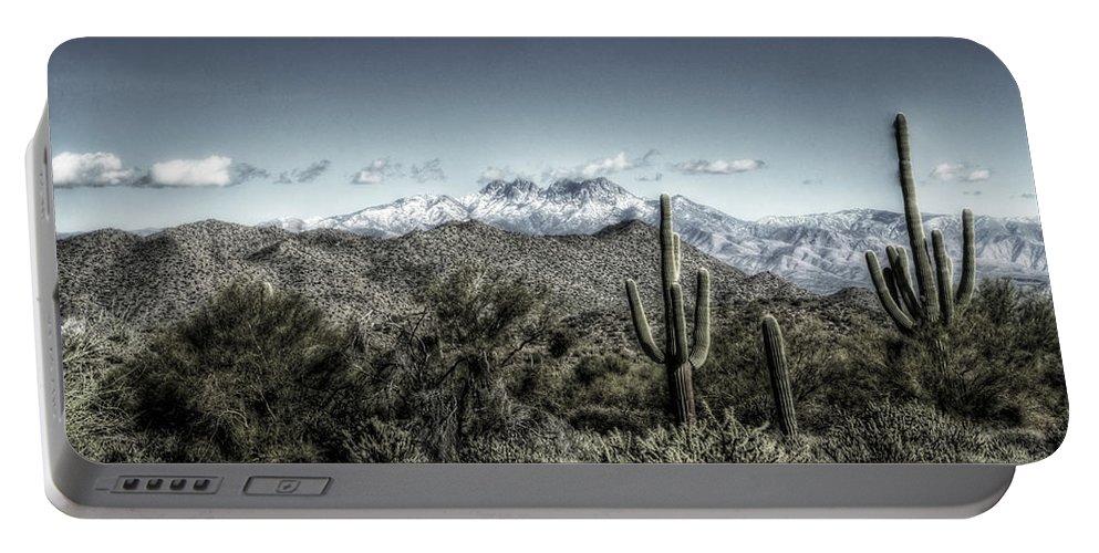 Arizona Portable Battery Charger featuring the photograph Winter In The Desert by Saija Lehtonen