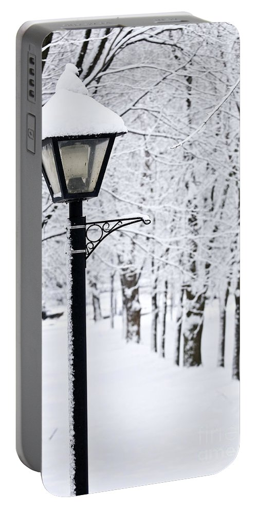 Winter Portable Battery Charger featuring the photograph Winter Park by Elena Elisseeva