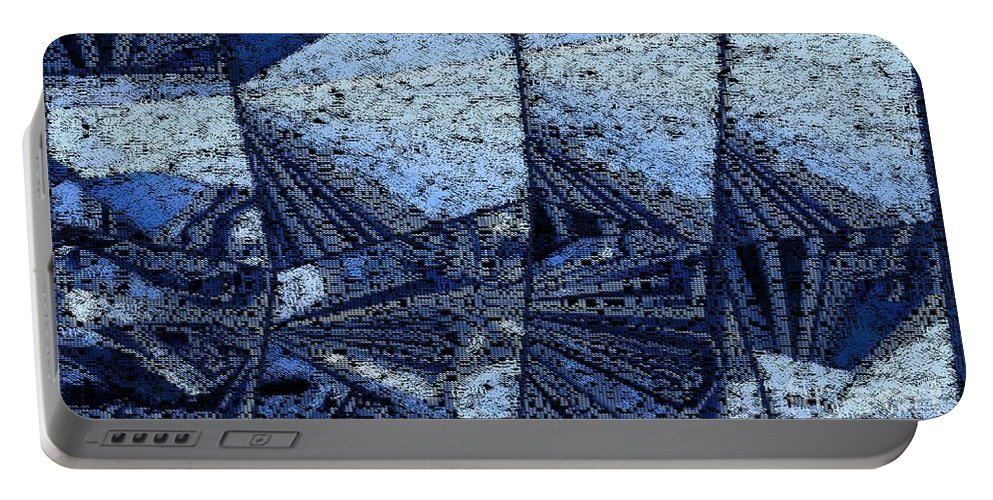 Abstract Portable Battery Charger featuring the digital art Winter by Ron Bissett