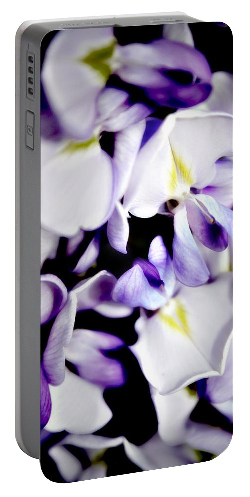 Wisteria Portable Battery Charger featuring the photograph Wisteria by Vicki Field
