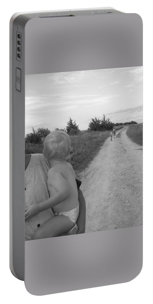 Wistful Portable Battery Charger featuring the photograph Wistful by Sheri Lauren