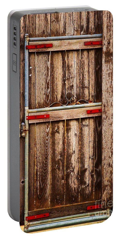 Door Portable Battery Charger featuring the photograph Wood Fence Door by James BO Insogna