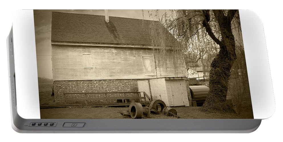 2d Portable Battery Charger featuring the photograph Wye Mill - Sepia by Brian Wallace